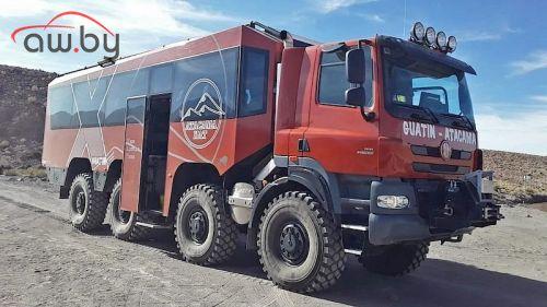Из грузовика Tatra построили туристический автобус 8х8