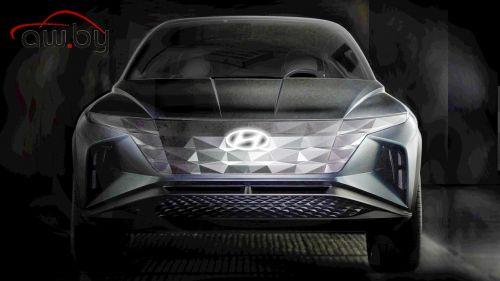 Hyundai готовит новый кроссовер с очень странными фарами (фото)