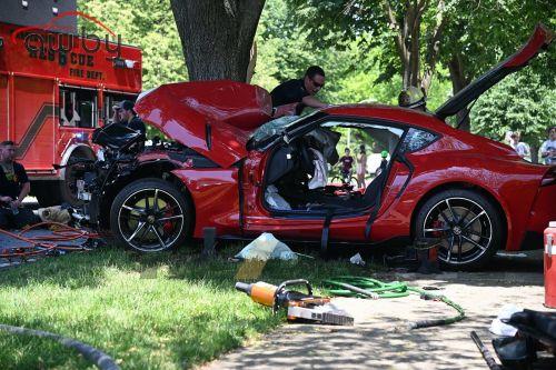 Новую Toyota Supra разбили во время тест-драйва (фото)