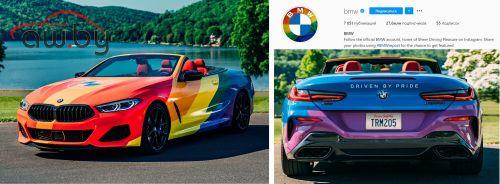 BMW перекрасила логотип в радужные цвета