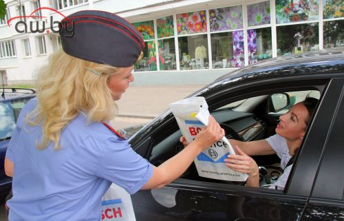 В День защиты детей Bosch и ГАИ Минска провели совместную акцию