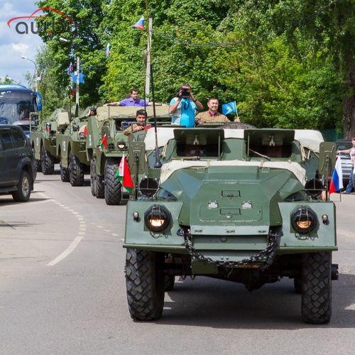 Военные броневики поехали по России: фотографии