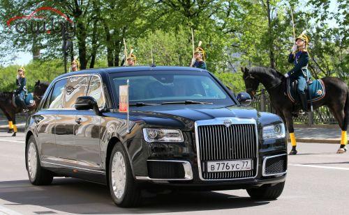 В Сети обсуждают «странные номера» нового лимузина Путина