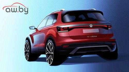 Volkswagen показал первое изображение нового кроссовера